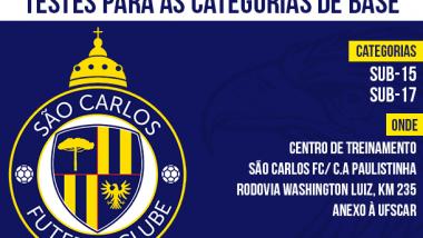 São Carlos Futebol Clube anuncia avaliações em 2015